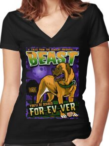 The Beast Women's Fitted V-Neck T-Shirt