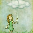 Cloud on a string by Ine Spee