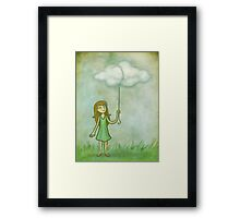Cloud on a string Framed Print