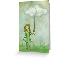 Cloud on a string Greeting Card