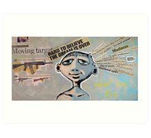 Never Say Die (brainstemming.com) Art Print