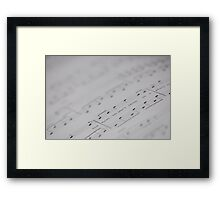 Written music Framed Print