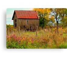 """"""" Meet You Behind the Wood Shed """" Canvas Print"""