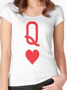 Queen of hearts Women's Fitted Scoop T-Shirt