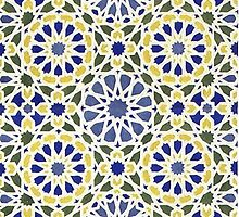 Geometric Patterns in Yellow and Blue by RedPine