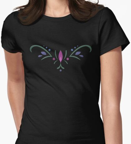 Anna Coronation Embroidery Womens Fitted T-Shirt
