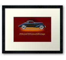 1936 Cord 810 Convertible w/ID Framed Print