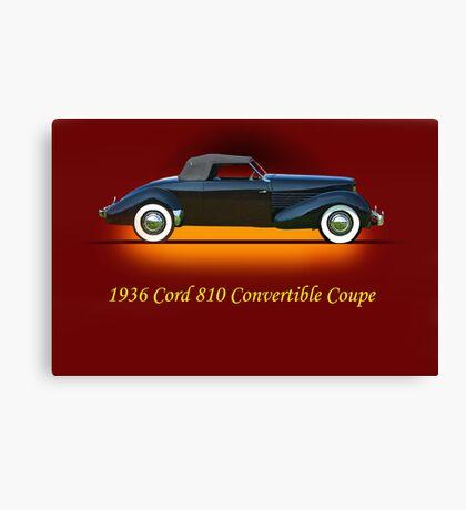 1936 Cord 810 Convertible w/ID Canvas Print