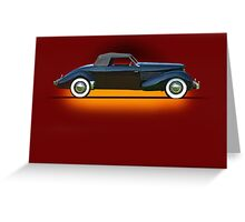 1936 Cord 810 Convertible Coupe w/o ID Greeting Card