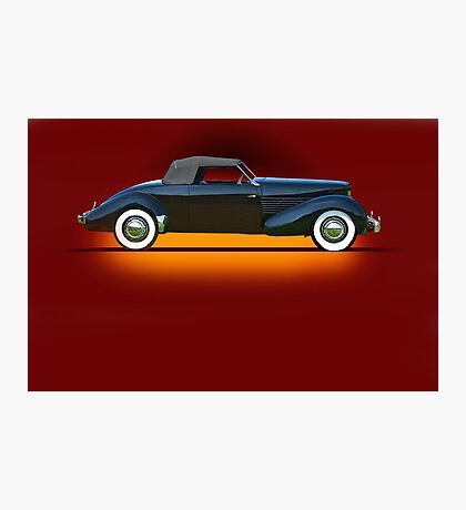 1936 Cord 810 Convertible Coupe w/o ID Photographic Print