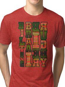 BRAAI BIER RUGBY BILTONG Tri-blend T-Shirt