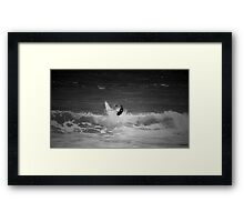 Surfing the cape Framed Print