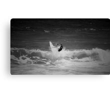Surfing the cape Canvas Print