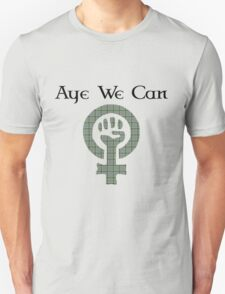 Aye We Can Burns Tartan Scottish Independence Tee T-Shirt