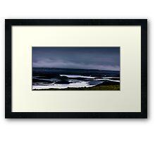 Fog rolling in to Dunvegan Bay, Isle of Skye Framed Print