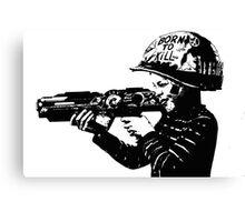Kids with guns Canvas Print