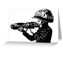 Kids with guns Greeting Card