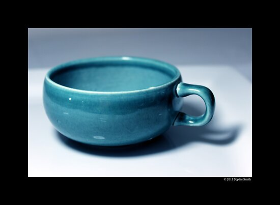 Vintage Turquoise Tea Cup by © Sophie W. Smith