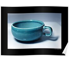 Vintage Turquoise Tea Cup Poster