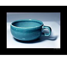 Vintage Turquoise Tea Cup Photographic Print