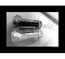 Vintage Glass Lighthouse Shaped Salt And Pepper Shakers Photographic Print