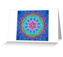 Lotus Flower of Life Greeting Card