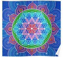 Lotus Flower of Life Poster