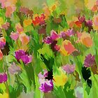 *Tulip Field Watercolor Impression* by DeeZ (D L Honeycutt)