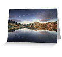 Sunset at the Baldwin Reservoir, Isle of Man Greeting Card