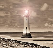 Sepia Surreal Lighthouse 4 by DavidWHughes