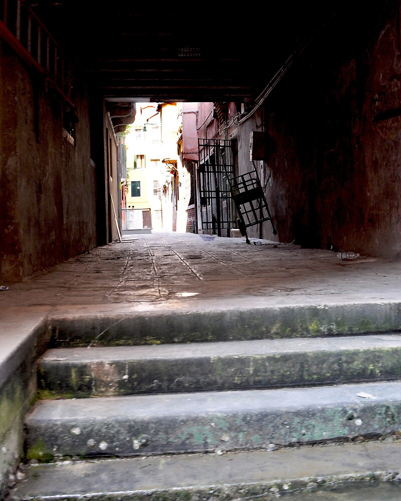 Steps in Venice, Italy by Thomas Barker-Detwiler