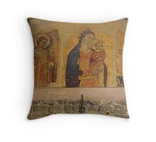 San Gimignano Fresco Throw Pillow