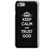 Religious Christian iPhone 6 Case Cover Keep Calm And Trust God Black iPhone Case/Skin