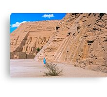 Hathor & Ramses II Temples. Canvas Print