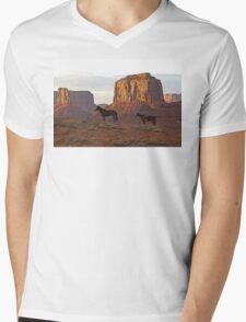 Monument Valley Horses Mens V-Neck T-Shirt