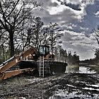 Excavator in the Swamp by jasmith162