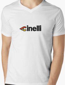 Cinelli Mens V-Neck T-Shirt