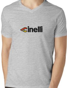 Cinelli Mens V-Neck T-Shirt