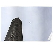 Flatiron Building Helicopter Poster