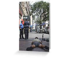 Midtown Police Tape Greeting Card