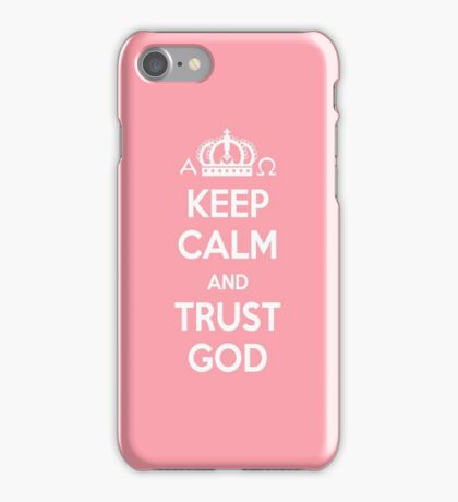 Religious Christian iPhone 6s Case Cover Keep Calm And Trust God Pink iPhone Case/Skin