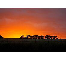 Sunset Murrumbateman  Rural NSW  Australia  Photographic Print