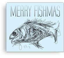 merry fishmas Canvas Print