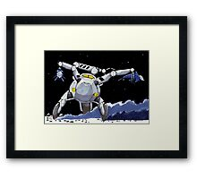 THE MOON IS A GREAT PLAYGROUND Framed Print