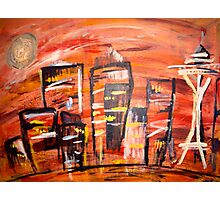 Seattle Original Skyline Photographic Print