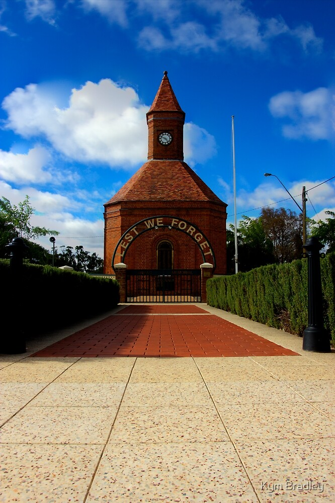 Warm Memorial for Anzacs  Boorowa NSW   Australia  by Kym Bradley