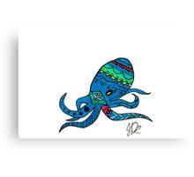 Octopus in Sharpie  Canvas Print