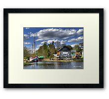H.A. Burnham Boatyard Framed Print
