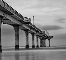 New Brighton Pier in B&W, New Zealand by Harmeet Gabha