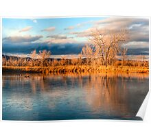 Winter Solstice At Sawhill Ponds Poster